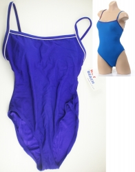 View Buying Options For The Pipe Lined Solid Color 1-Piece Ladies Bathing Suit