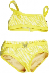 View Buying Options For The Jungle Tiger Stripe Butterfly Series 2-Piece Junior Womens Bikini
