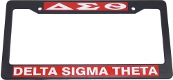 View Buying Options For The Delta Sigma Theta Text Decal Plastic License Plate Frame