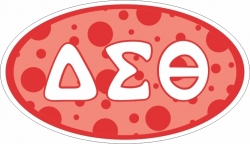 View Buying Options For The Delta Sigma Theta Sorority Oval Decal Sticker