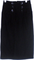 View Buying Options For The Fashion Love Button Accented High-Waist Junior Womens Skirt