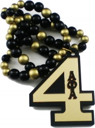 View Buying Options For The Alpha Phi Alpha Line #4 Mirror Wood Color Bead Tiki Necklace
