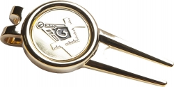 View Buying Options For The Mason Blue House Symbol Golf Ball Divot Tool with Ball Marker