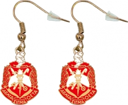 View Buying Options For The Delta Sigma Theta Crest Earrings