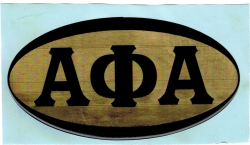 View Buying Options For The Alpha Phi Alpha Mirror Domed Decal Sticker