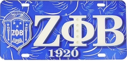 View Buying Options For The Zeta Phi Beta Printed Symbol Crest Mirror License Plate