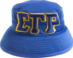 View Buying Options For The Sigma Gamma Rho Big Letter Ladies Floppy Bucket Mesh Hat