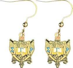 View Buying Options For The Sigma Gamma Rho Crest Earrings