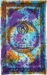 View Buying Options For The Quan Yin Tie Dye Bedspread Cloth Tapestry