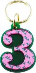View Buying Options For The Alpha Kappa Alpha Color Mirror Line #3 Keychain