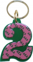 View Buying Options For The Alpha Kappa Alpha Color Mirror Line #2 Keychain