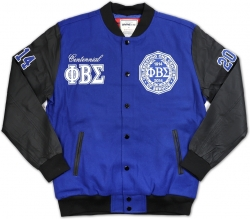 View Buying Options For The Phi Beta Sigma Divine 9 S3 Mens Wool & Leather Jacket
