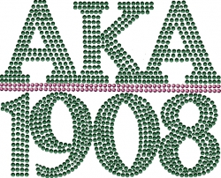 View Buying Options For The Alpha Kappa Alpha 1908 Chapter Style Studstone Heat Transfer
