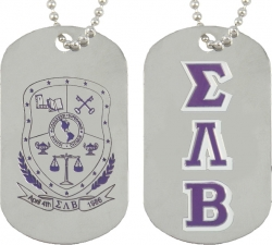 View Buying Options For The Sigma Lambda Beta Double Sided Dog Tag