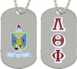 View Buying Options For The Lambda Theta Phi Double Sided Dog Tag