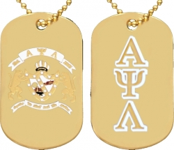 View Buying Options For The Alpha Psi Lambda Double Sided Dog Tag