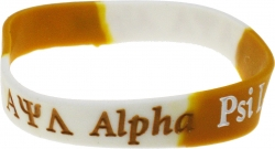 View Buying Options For The Alpha Psi Lambda Color Swirl Silicone Bracelet [Pre-Pack]