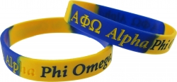 View Buying Options For The Alpha Phi Omega Color Swirl Silicone Bracelet [Pre-Pack]