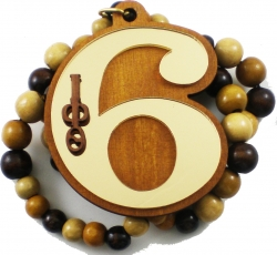 View Buying Options For The Iota Phi Theta Line Number 06 Mirror Wood Color Bead Tiki Necklace