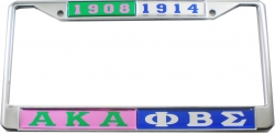 View Buying Options For The Alpha Kappa Alpha + Phi Beta Sigma Split License Plate Frame