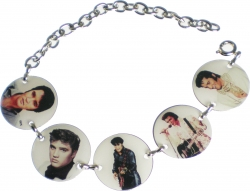 View Buying Options For The Elvis Presley Photo Charm Ladies Bracelet