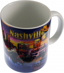 View Buying Options For The Elvis Presley Nashville Collage Scene Coffee Mug
