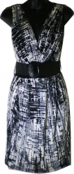 View Buying Options For The 0 Flux Pretty Good Ancient Art Print Junior Womens Dress with Wide Belt
