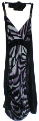 View Buying Options For The Cefian Jungle Tiger Stripe Print Junior Womens Long Dress