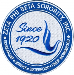 View Buying Options For The Zeta Phi Beta Sorority, Inc. Since 1920 Round Iron-On Patch