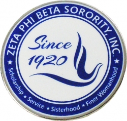 View Buying Options For The Zeta Phi Beta Sorority, Inc. Since 1920 Round Lapel Pin