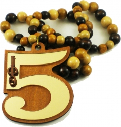 View Buying Options For The Iota Phi Theta Line #5 Mirror Wood Color Bead Tiki Necklace