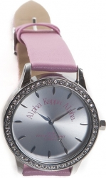 View Buying Options For The Alpha Kappa Alpha Sorority Quartz Leather Band Ladies Watch
