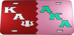 View Buying Options For The Kappa Alpha Psi + Alpha Kappa Alpha Split Mirror License Plate