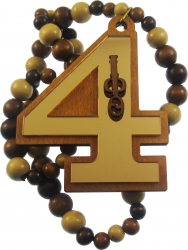 View Buying Options For The Iota Phi Theta Line #4 Mirror Wood Color Bead Tiki Necklace