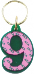 View Buying Options For The Alpha Kappa Alpha Color Mirror Line #9 Keychain