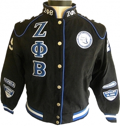 View Buying Options For The Zeta Phi Beta Dove Sorority Ladies NASCAR Twill Jacket