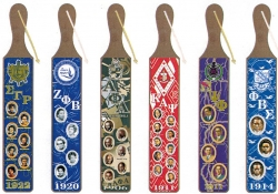 View Buying Options For The Greek Founders Acrylic Topped Pattern Back Wood Paddle