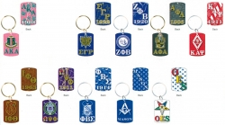 View Buying Options For The Greek Or Mason Pattern Backed Dog Tag Keychain