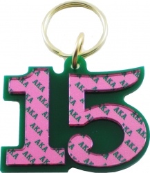 View Buying Options For The Alpha Kappa Alpha Color Mirror Line #15 Keychain
