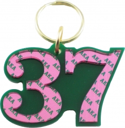 View Buying Options For The Alpha Kappa Alpha Color Mirror Line #37 Keychain