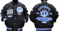 View Buying Options For The Phi Beta Sigma Centennial Divine 9 S6 Mens NASCAR Twill Jacket