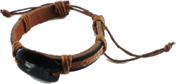 View Buying Options For The Zodiac Sign In Spanish Virgo Thick Leather Band Bracelet