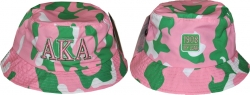 View Buying Options For The Alpha Kappa Alpha Camo Divine 9 Ladies Bucket Hat
