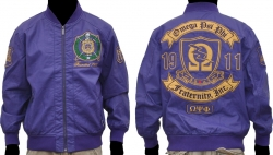 View Buying Options For The Omega Psi Phi Divine 9 S2 Mens Leather Bomber Jacket