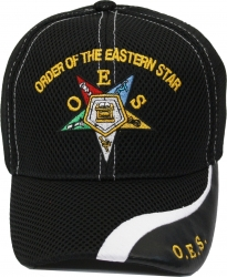 View Buying Options For The Order of Eastern Star Vinyl Wave Bill Ladies Air Mesh Cap