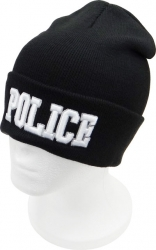 View Buying Options For The Police Text Cuffed Mens Beanie Cap