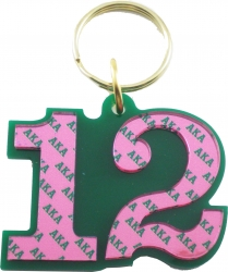 View Buying Options For The Alpha Kappa Alpha Color Mirror Line #12 Keychain