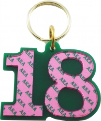 View Buying Options For The Alpha Kappa Alpha Color Mirror Line #18 Keychain