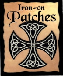 View Buying Options For The Celtic Cross Cutout Iron-On Patch [Pre-Pack]