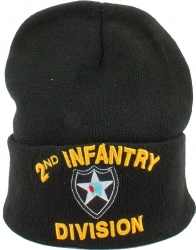View Buying Options For The 2nd Infantry Division Mens Cuff Beanie Cap
